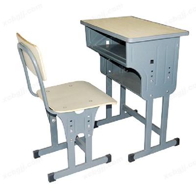 单人双柱四管培训班桌椅04