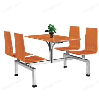 时尚连体餐桌椅 16 中泰昊天办公家具