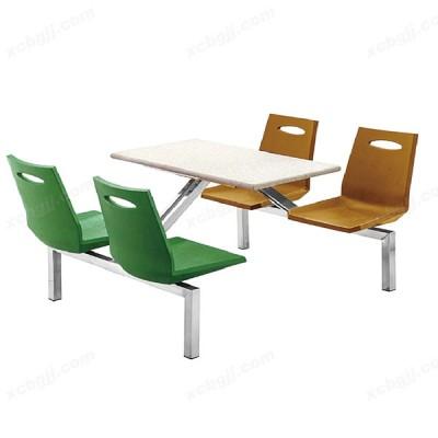 钢架食堂餐桌椅 10 中泰昊天办公家具