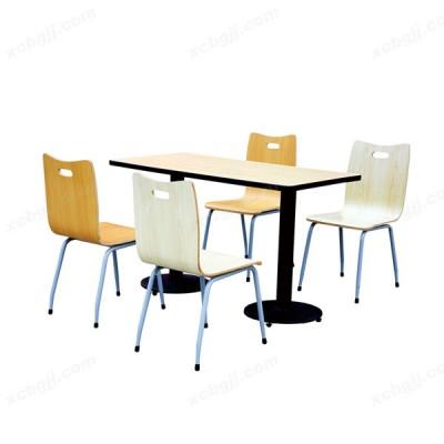 中泰昊天办公家具食堂四人位餐桌椅08