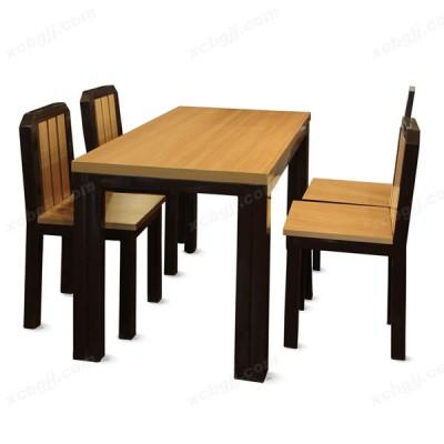 钢木快餐桌椅 07 中泰昊天办公家具