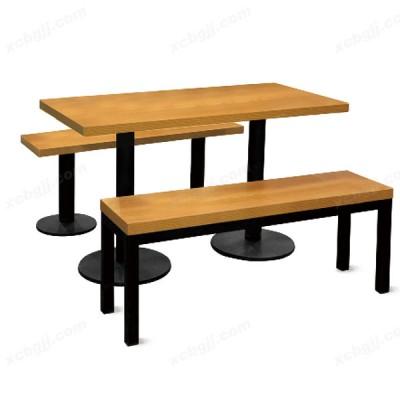 条形组合餐桌椅 05 中泰昊天办公家具