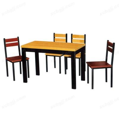 钢木餐桌椅 快餐桌椅 玻璃餐桌椅04