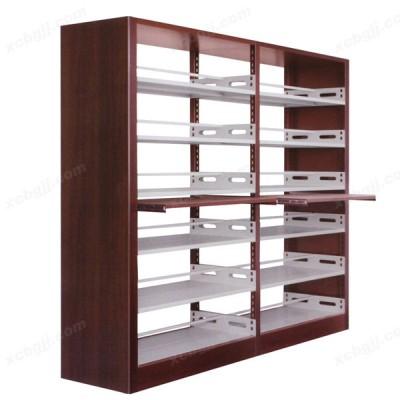 钢木双柱双面书架 01 阅览室资料架