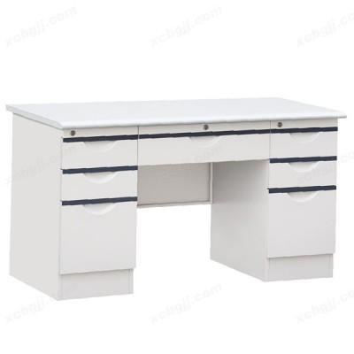 加厚铁皮电脑桌 钢制办公桌05
