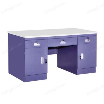 套色钢制办公桌03 中泰昊天办公家具