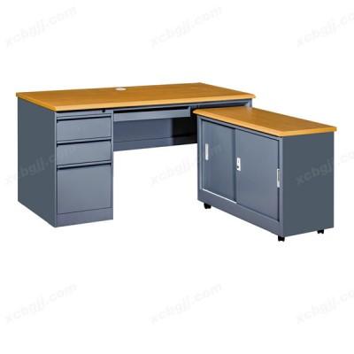 中泰昊天办公家具 转角钢制电脑桌01