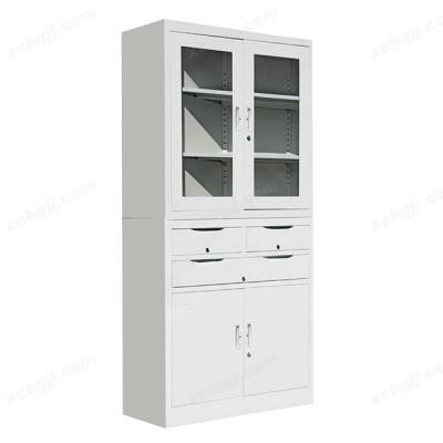文件柜资料柜中三屉开门柜06