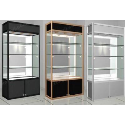精品玻璃展示柜 透明橱窗陈列展示架24