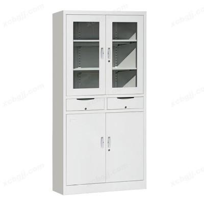 文件柜铁皮柜档案柜中二屉开门柜04