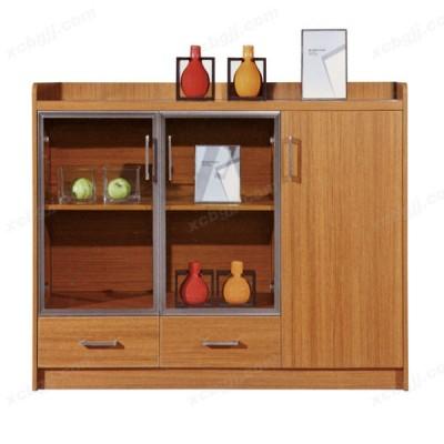 实木餐厅厨柜 22 玻璃储物柜