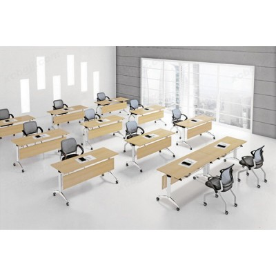 中泰昊天办公家具 学生带轮长条培训桌10