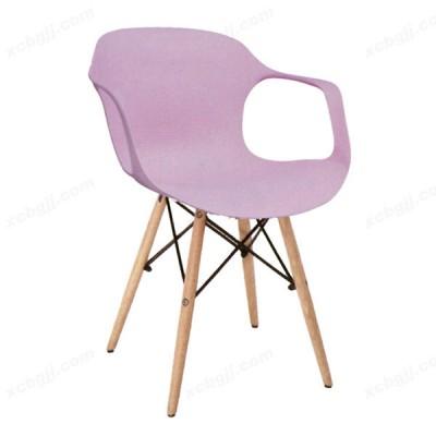 休闲皮椅酒店咖啡馆椅45