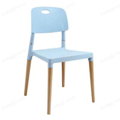 中泰昊天办公家具休闲实木布艺咖啡椅42
