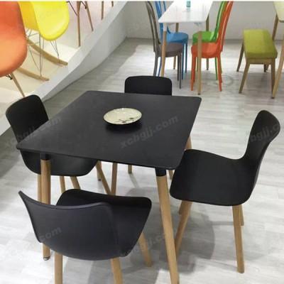 中泰昊天实木餐桌椅牛角椅咖啡厅桌32
