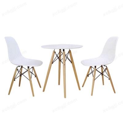 休闲椅洽谈椅子美式实木椅25