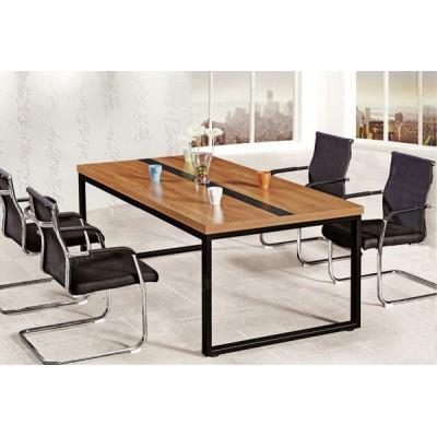 现代实木会议桌 简易办公长条桌31