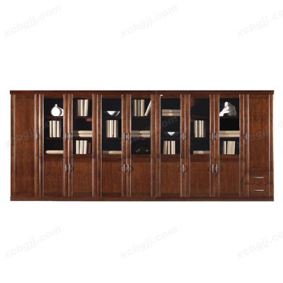 天津豪华八门带储物组合书柜09