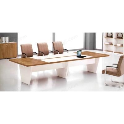 高档时尚大型长条板式接待会议桌20