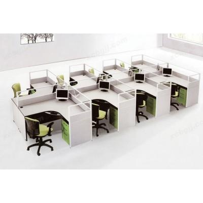 屏风隔断桌 12 多人位电脑桌