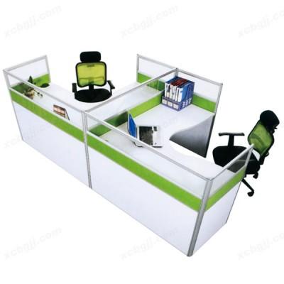 两人屏风办公桌卡座 职员工作位06