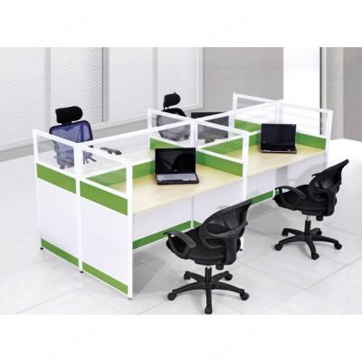 多人位屏风隔断桌02 职员办公桌
