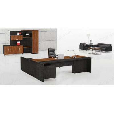 时尚板式总裁桌 简约现代老板桌05