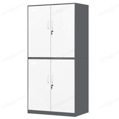 办公带锁隔板钢制对开四门柜13