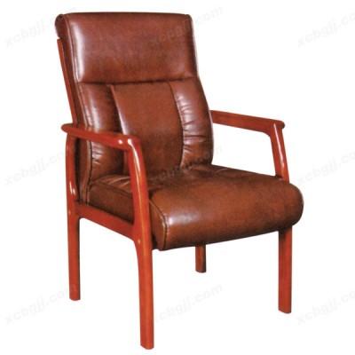 四脚实木真皮会议椅 办公老板椅39