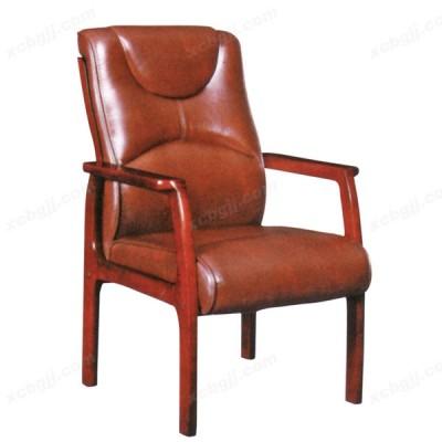 高档实木真皮接待椅 会议椅38