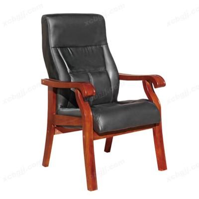简约实木办公椅 办公室真皮会议椅37