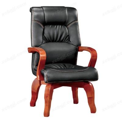 固定扶手老板椅 实木会议椅36