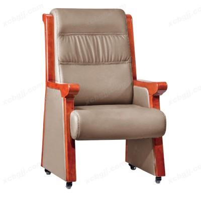 天津中泰昊天实木带轮老板椅 会议椅30