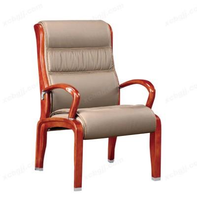时尚真皮接待椅 实木会议椅25
