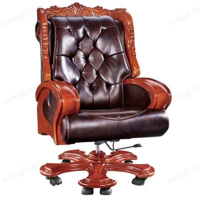 天津中泰昊天大班椅 实木脚可躺椅总裁椅10