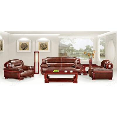 实木质办公沙发 软宽扶手沙发02