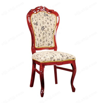 河北盛朗简约酒店洽谈软包田园椅10