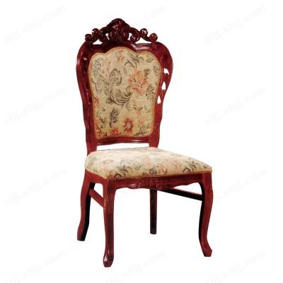 河北盛朗欧式布艺实木软包靠背餐椅05