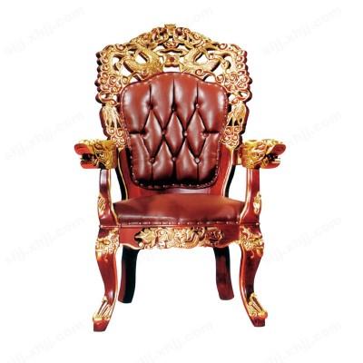 河北盛朗真皮实木大龙椅 贵宾椅01