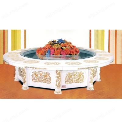 河北盛朗豪华电动欧式白色餐桌04