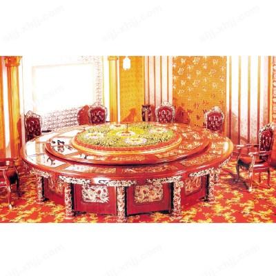 河北盛朗电动实木圆形餐桌03
