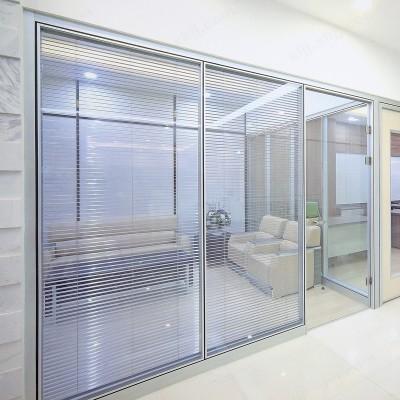 高隔断墙玻璃隔墙高隔间铝镁合金隔断03