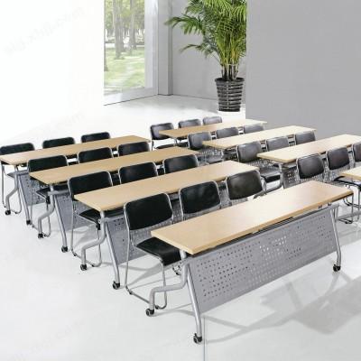 河北盛朗定制移动翻板桌 折叠培训桌10