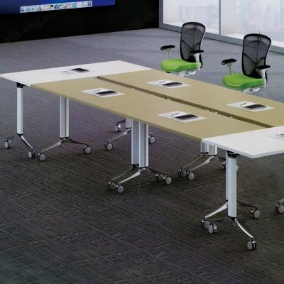 河北盛朗议培训桌办公折叠侧翻桌17