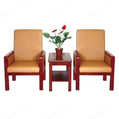 高档实木真皮接待椅 会议椅01