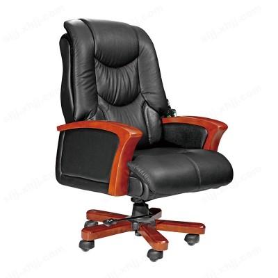 实木办公椅 头层牛皮老板椅10