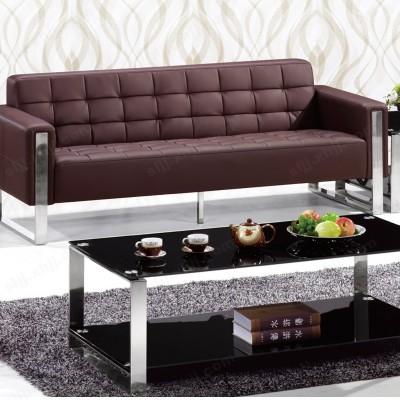 简约现代办公沙发 办公室钢角沙发07