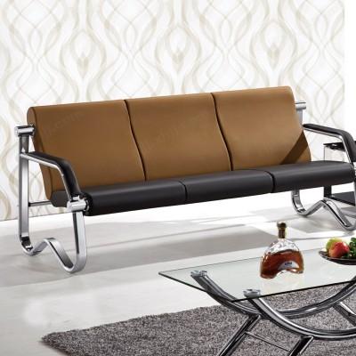 简约现代商务接待钢架三人位办公室沙发03