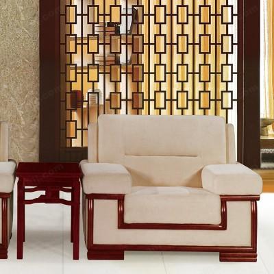 简易单人贵宾布艺沙发 客户休息区沙发07