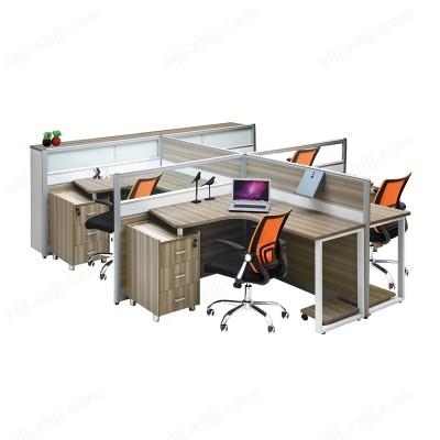 职员办公桌四人位 员工屏风位20